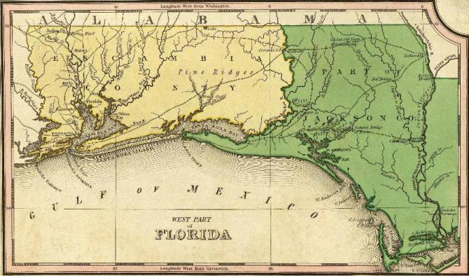 Northwest Florida Map.Very Early Northwest Florida Genealogy Records Northwest Florida