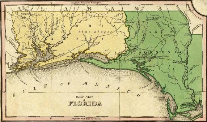 Northwest Florida Map.Very Early Northwest Florida Genealogy Records Northwest Florida