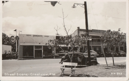 Crestview Street Scene, no date but likely 1940s