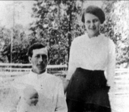 My Grandparents with oldest daughter Lucile about 1916