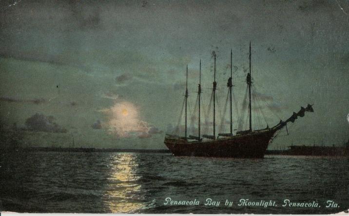 Pensacola Bay, postmarked 1913