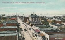 Pensacola, View of Plaza and Harbor, no date but early 20th century likely