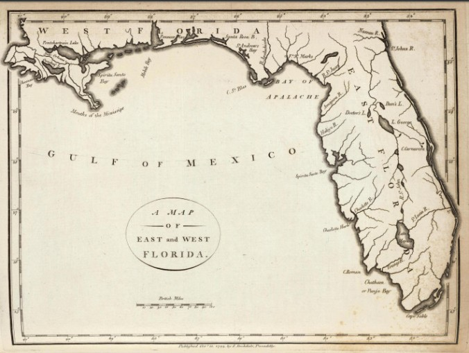 Map of East and West Florida 1794