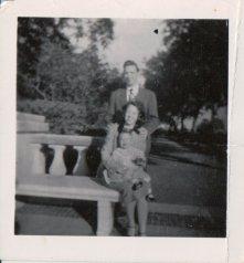 My parents & me in 1952