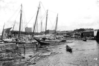View of hurricane damage - Pensacola, Florida. 1926