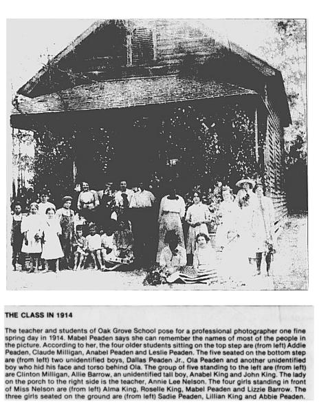 Oak Grove School 1914