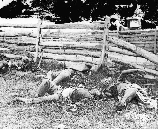 Antietam, Maryland. Bodies of dead, Louisiana Regiment