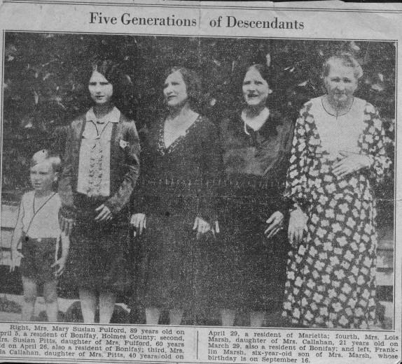 Five Generations of Descendants