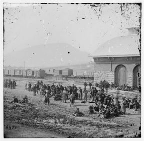 Prisoners of War, Chattanooga, TN, at the Railroad Depot