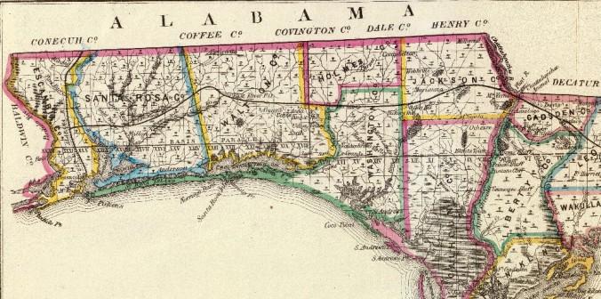 Florida panhandle in 1866