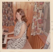 Playing the organ at home 1967