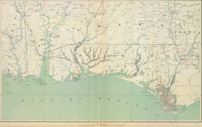 Northwest Florida Map.The Intimate Connections Between South Alabama And Northwest Florida