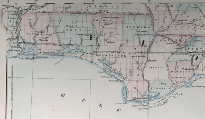 Asher and Adams Florida 1871