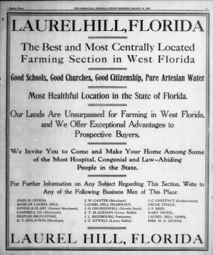 Laurel Hill Ad