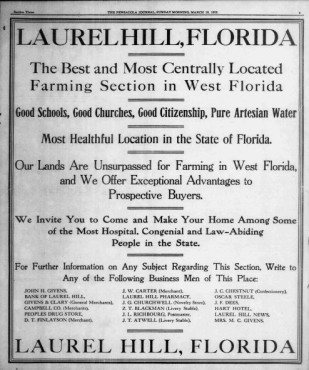 Laurel Hill Ad