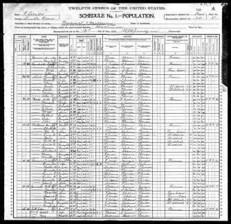 1900 Census for the Oak Grove area; FamilySearch.org; page 9 of 12