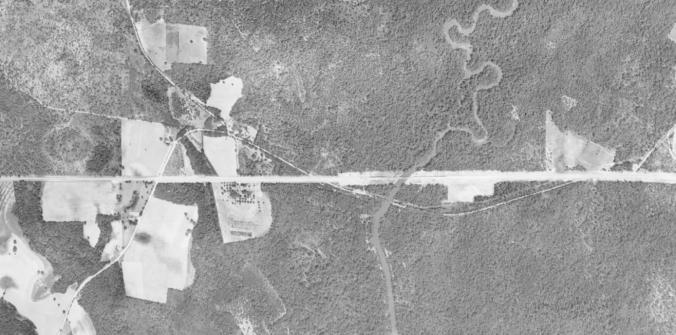 1949 Flight 1F Tile Farms along what would be Hwy 2